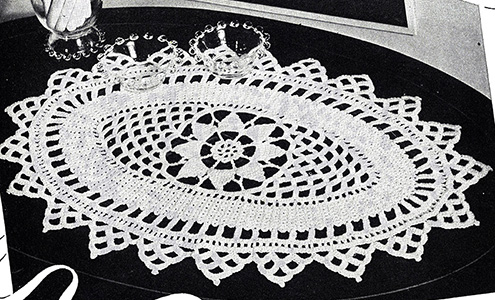 Oblong Doily Pattern #2219