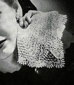 Crocheted Handkerchief Pattern #3110