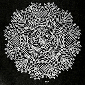 Crocheted Doily Pattern #3124