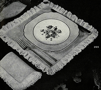 Square Luncheon Set Pattern #3125