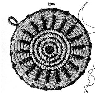 Potholder Pattern #3204