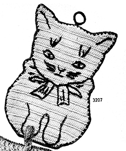 Cat Potholder Pattern #3207