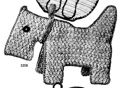 Dog Potholder Pattern #3208