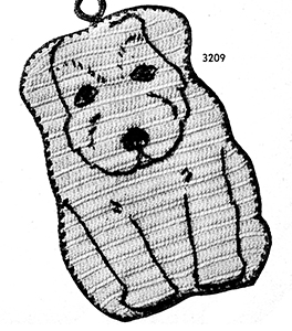 Puppy Potholder Pattern #3209