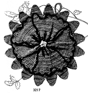 Flower Potholder Pattern #3217