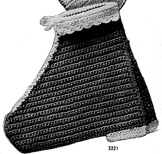 Boot Potholder Pattern #3221