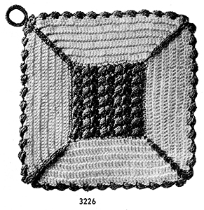 Potholder Pattern #3226