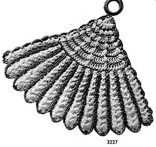 Fan Potholder Pattern #3227
