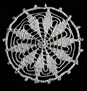 Round Ten-Point Star Medallion Pattern