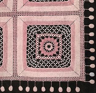 Waffle Stitch and Irish Crochet Bedspread