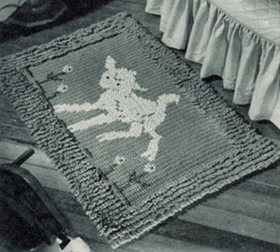 Crocheted Lamb Rug Pattern