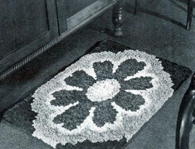 Floral Tuft Rug Pattern