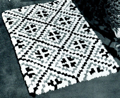 Diamond Tile Rug Pattern Crochet Patterns