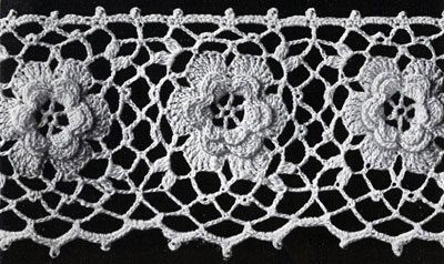 Irish Rose Edging Pattern