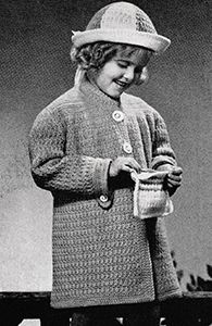 Child's Coat, Hat and Bag Pattern #604