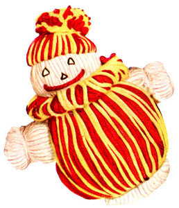 Red & Yellow Clown Doll