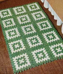 The Green and White Rug Pattern