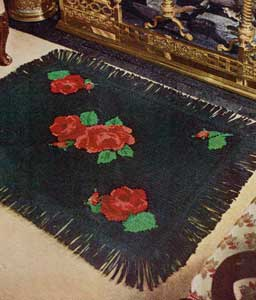 The Black Embroidered Rug Pattern