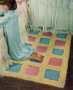 The Blue and Pink Block Rug Pattern