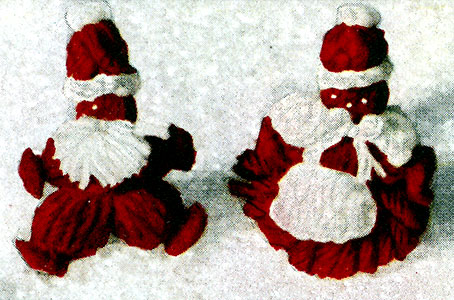 Mr. and Mrs. Santa Lapel Pins Pattern