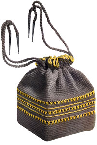 Grey and Yellow Bag Pattern