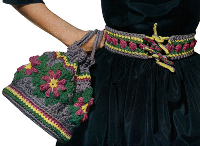 Motif Bag and Belt Pattern