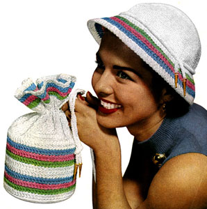 Candy Striped Hat and Bag Pattern