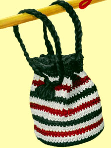 Red, White and Black Drawstring Bag Pattern
