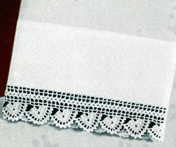 White Pillowcase Edging Pattern