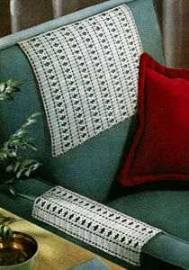 Chair back set pattern crochet patterns chair back set pattern ccuart Gallery