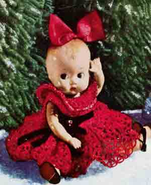 Christmas Doll with Red Dress