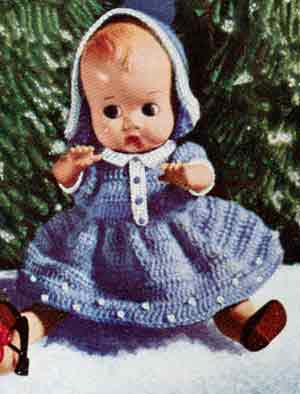 Christmas Doll with Blue Dress