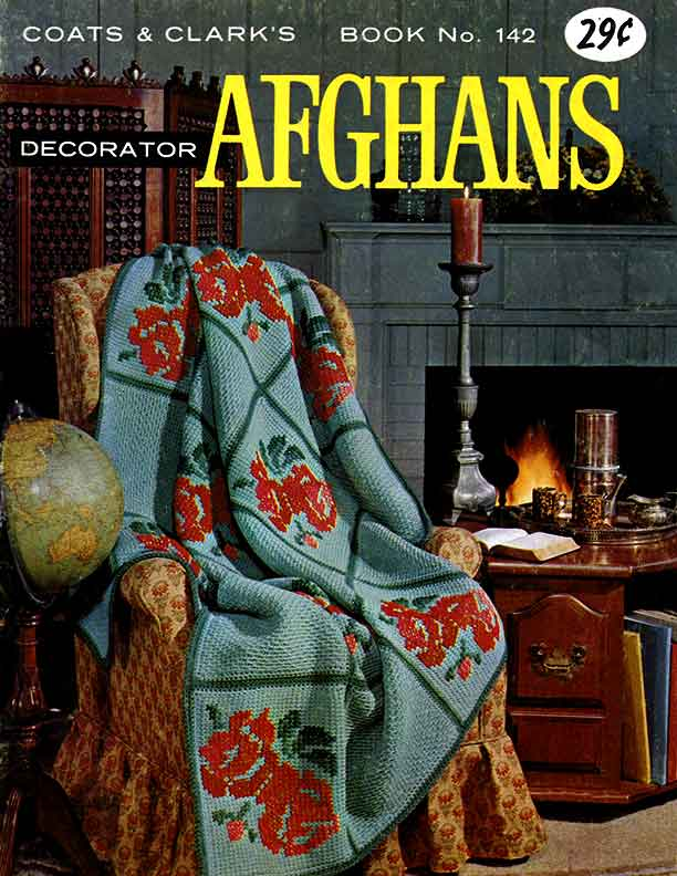 Decorator Afghans | Coats & Clark's Book No. 142