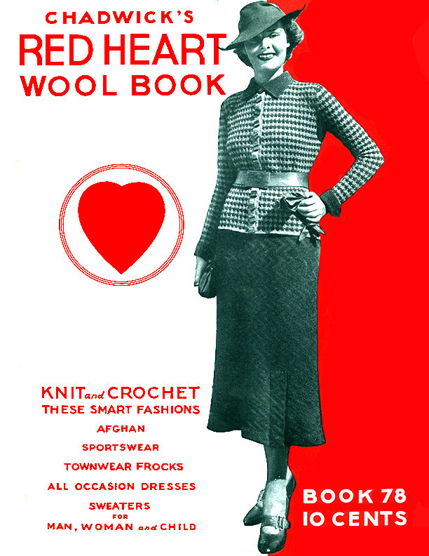Chadwick's Red Heart Wool Book | Book No. 78 | The Spool Cotton Company