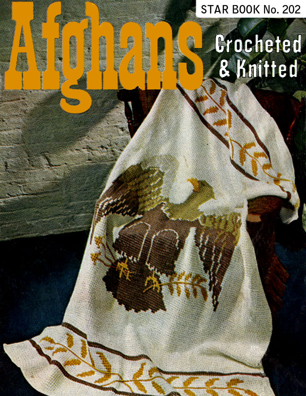 Afghans Crocheted & Knitted | Star Book No. 202