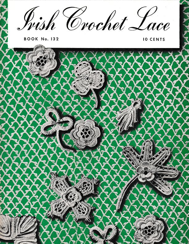 Irish Crochet Flower Design Vintage crochet pattern Tea Cosy and Lace Edging