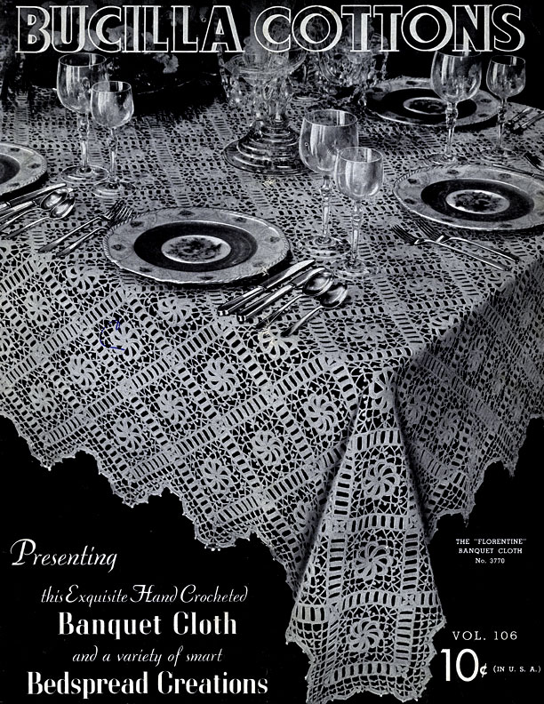 Bucilla Cottons Banquet Cloth & Bedspread Creations | Volume 106