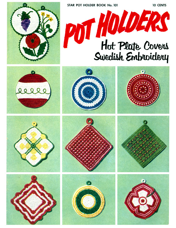 Pot Holders | American Thread Company | Star Book No. 101
