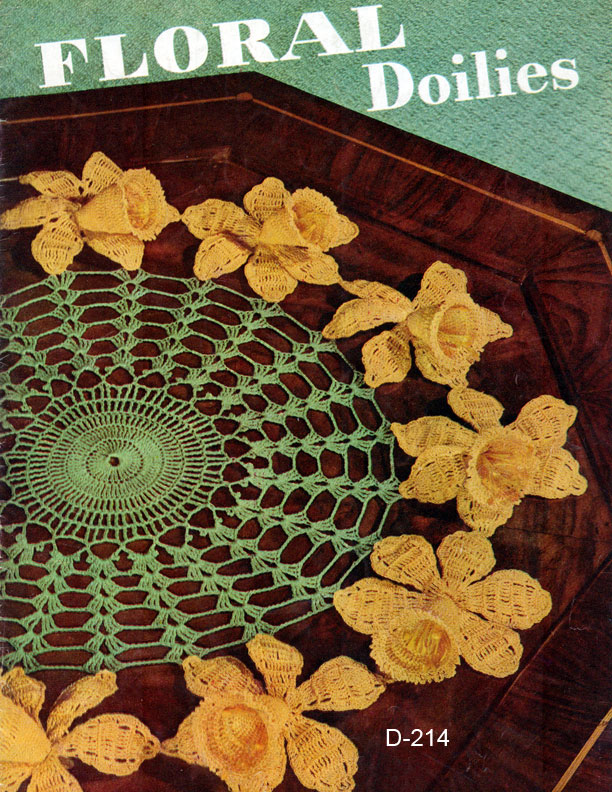 Floral Doilies Book No 258 The Spool Cotton Company Crochet
